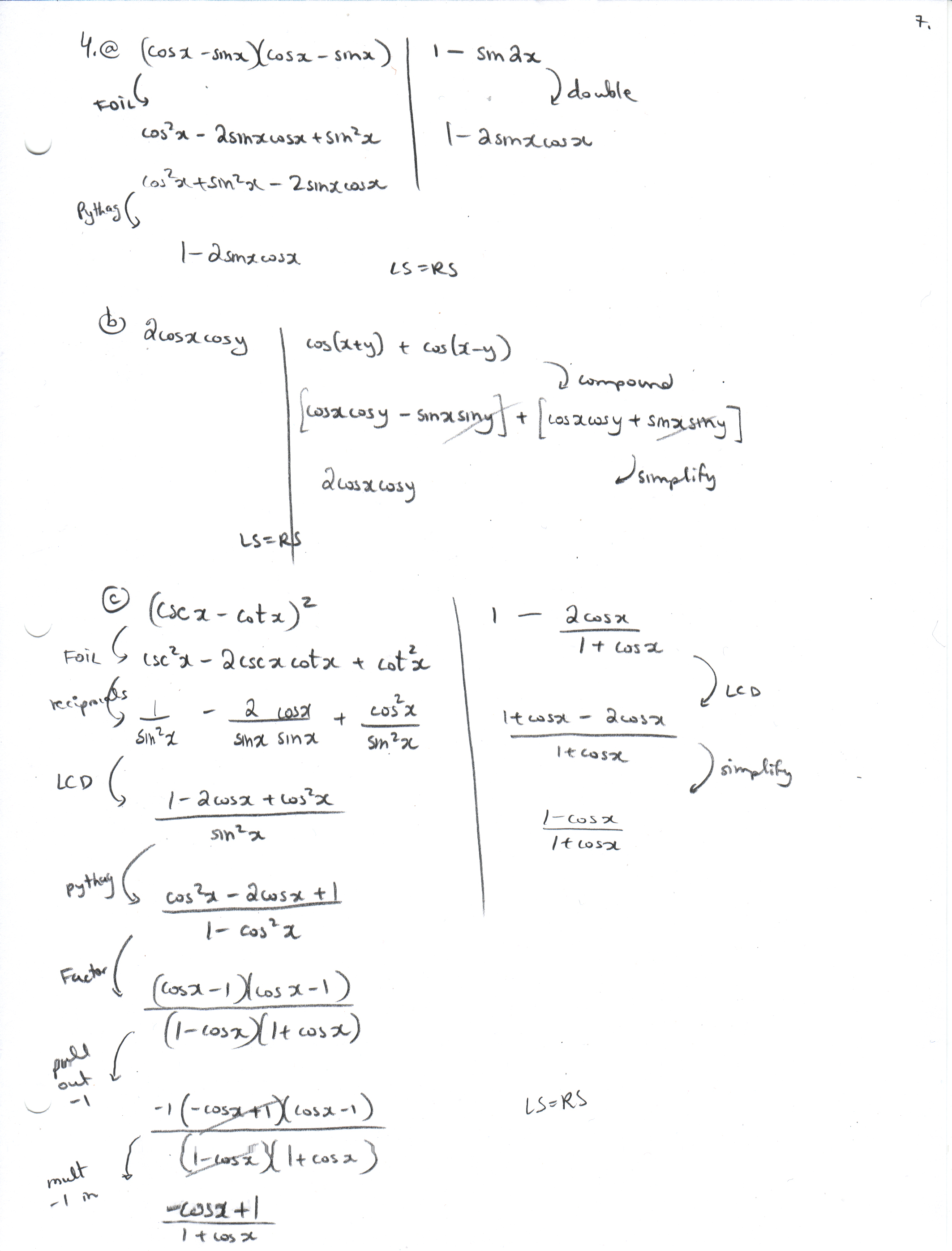 Worksheets Trigonometric Identities Worksheet mrsk ca 4abc jpg